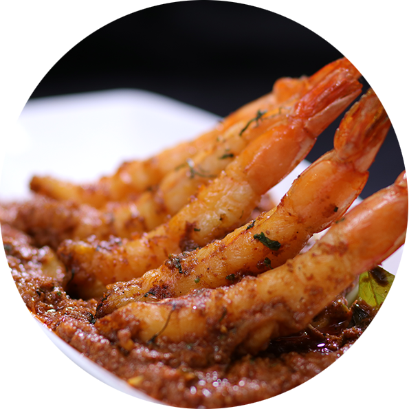 south indian prawn preparation