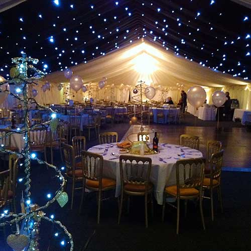 private event with lighting