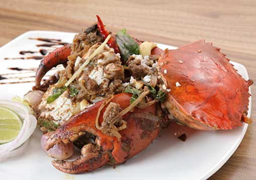 kerala chilli crab- an authentic south indian crab preparation from kerala