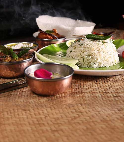 classic south indian food combo and thali at tamarind kolkata